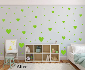 LIME GREEN HEART STICKERS
