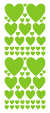 Load image into Gallery viewer, LIME GREEN HEART WALL STICKERS