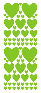 LIME GREEN HEART WALL STICKERS