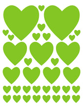 Load image into Gallery viewer, LIME GREEN HEART WALL DECALS