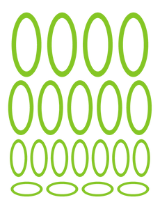 LIME GREEN OVAL WALL DECALS