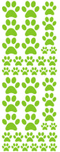 Load image into Gallery viewer, LIME GREEN PAW PRINT DECALS