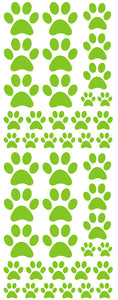 LIME GREEN PAW PRINT DECALS