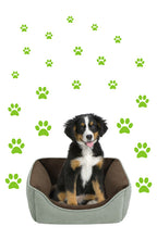 Load image into Gallery viewer, LIME GREEN PAW PRINT STICKERS