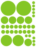 LIME GREEN POLKA DOT WALL DECALS