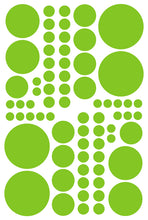 Load image into Gallery viewer, LIME GREEN POLKA DOT DECALS