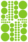 LIME GREEN POLKA DOT DECALS