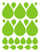 Load image into Gallery viewer, LIME GREEN RAINDROP WALL DECALS