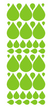Load image into Gallery viewer, LIME GREEN RAINDROP WALL STICKERS