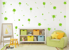 Load image into Gallery viewer, LIME GREEN PAINT SPLATTER WALL STICKER