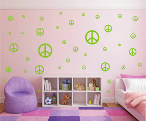 LIME GREEN PEACE SIGN STICKER
