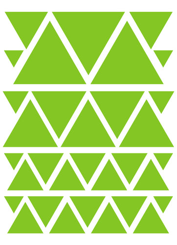 LIME GREEN TRIANGLE WALL DECALS