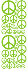 Load image into Gallery viewer, LIME GREEN PEACE SIGN DECAL