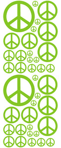 LIME GREEN PEACE SIGN DECAL