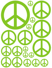 Load image into Gallery viewer, LIME GREEN PEACE SIGN WALL DECAL