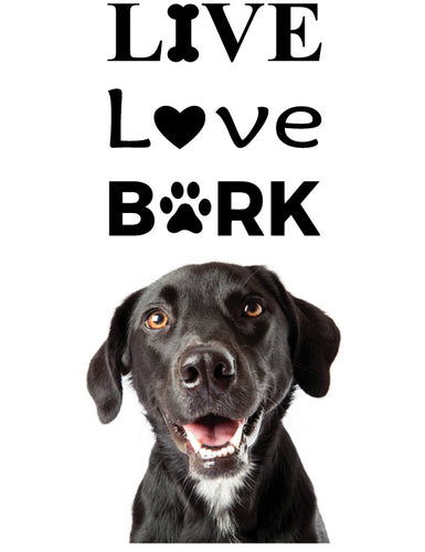 LIVE LOVE BARK WALL STICKER