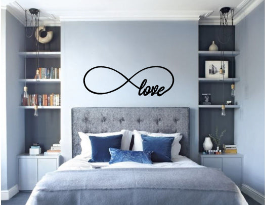 Love Infinity Wall Decal Wedding Wall Sticker Gift Whimsidecals