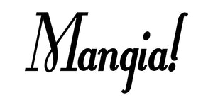 MANGIA ITALIAN WORD WALL DECAL IN BLACK