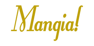 MANGIA ITALIAN WORD WALL DECAL IN GOLD