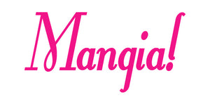 MANGIA ITALIAN WORD WALL DECAL IN HOT PINK