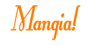 MANGIA ITALIAN WORD WALL DECAL IN ORANGE