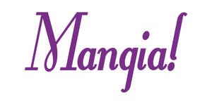 MANGIA ITALIAN WORD WALL DECAL IN PURPLE
