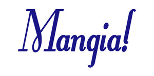 MANGIA ITALIAN WORD WALL DECAL IN ROYAL BLUE