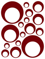 MAROON BUBBLE DECALS