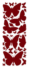 Load image into Gallery viewer, MAROON BUTTERFLY WALL DECALS
