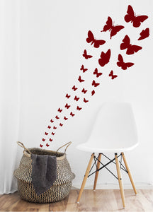 MAROON BUTTERFLY WALL STICKERS