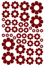 Load image into Gallery viewer, MAROON DAISY WALL STICKERS
