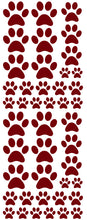 Load image into Gallery viewer, MAROON PAW PRINT DECALS