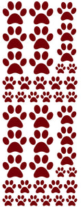 MAROON PAW PRINT DECALS