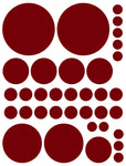 MAROON POLKA DOT WALL DECALS