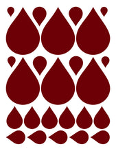 Load image into Gallery viewer, MAROON RAINDROP WALL DECALS
