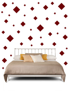 SQUARE WALL STICKERS IN MAROON