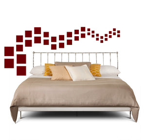 SQUARE WALL DECALS IN MAROON