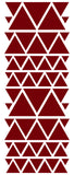 MAROON TRIANGLE STICKERS