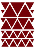 MAROON TRIANGLE WALL DECALS