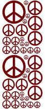 Load image into Gallery viewer, MAROON PEACE SIGN STICKERS
