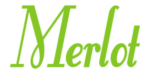 MERLOT WALL DECAL LIME GREEN
