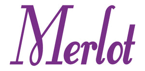 MERLOT WALL DECAL PURPLE