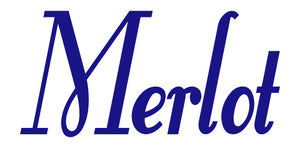 MERLOT WALL DECAL ROYAL BLUE