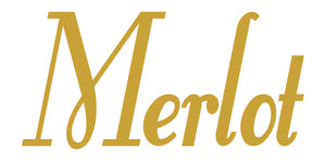 MERLOT WALL DECAL GOLD