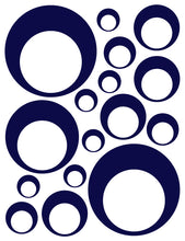 Load image into Gallery viewer, NAVY BLUE BUBBLE DECALS