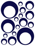 NAVY BLUE BUBBLE DECALS