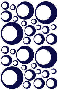 NAVY BLUE BUBBLE STICKERS