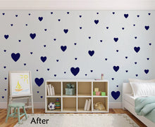 Load image into Gallery viewer, NAVY BLUE HEART STICKERS