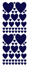 Load image into Gallery viewer, NAVY BLUE HEART WALL STICKERS