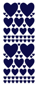 NAVY BLUE HEART WALL STICKERS